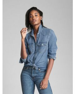 BLUSA JEANS WESTERN MUJER