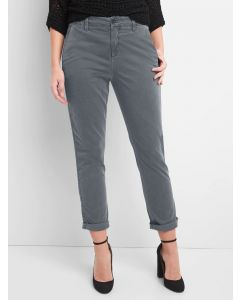 PANTALON GIRLFRIEND TWILL STRIPE MUJER