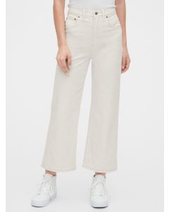 JEANS HIGH RISE WIDE-LEG CROP MUJER