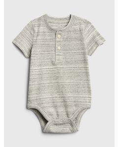 BABY HENLEY SHORT SLEEVE BODYSUIT