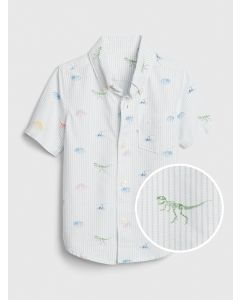 CAMISA DINO PRINT OXFORD TODDLER NIÑO