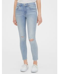 JEANS MID RISE DESTRUCTED TRUE SKINNY ANKLE MUJER