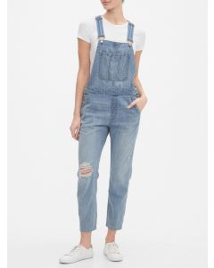 OVERALL JEANS LIGHT WASH MUJER