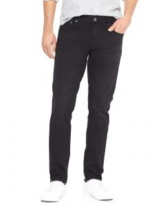 JEANS SKINNY WASHED BLACK HOMBRE
