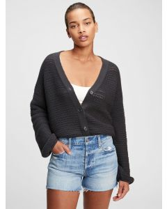 CHOMPA MUJER TEXTURED BUTTON-FRONT CARDIGAN MUJER